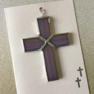 Stained Glass Card - Cross